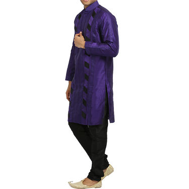 Runako Silk Full Sleeves Kurta Pyjama_RK4069 - Purple