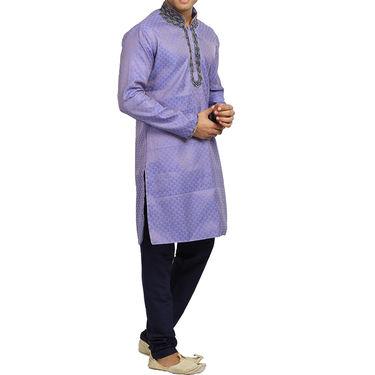 Runako Silk Full Sleeves Kurta Pyjama_RK4078 - Light Purple
