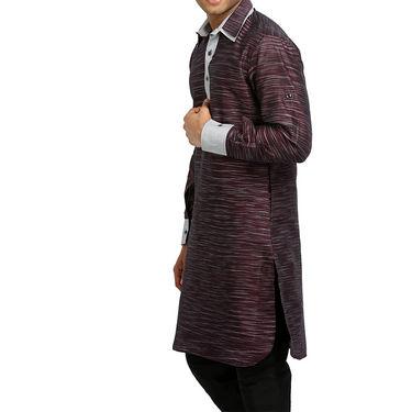 Runako Regular Fit Printed Party Wear Pathani Kurta For Men_RK4097 - Multicolor