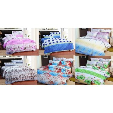 Bellamata Multicolor Print 6 Double Bedsheet With 12 Pillow Covers -RMC19