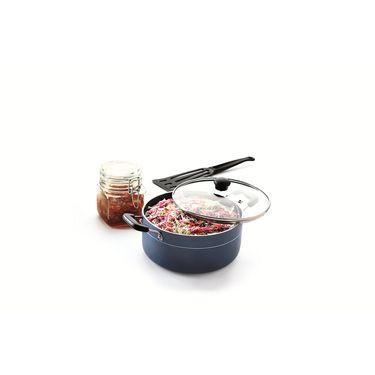 RECON MasterChef Non Stick Casserole with Glass Lid 220mm (3.6ltr)_RMGCR220