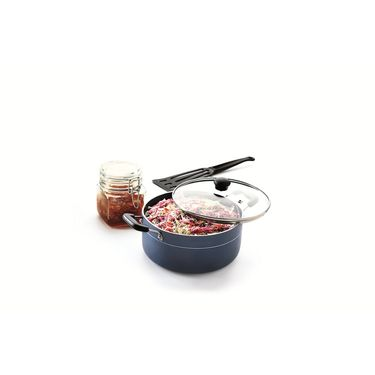 RECON MasterChef Induction Bottom Casserole with Glass Lid 190mm_RMICR190