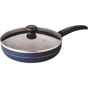 RECON MasterChef Induction Bottom Fry Pan with Glass Lid 255mm_RMIFP255