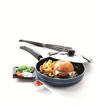 RECON MasterChef Non Stick Fry Pan with Steel Lid 235mm_RMSFP235