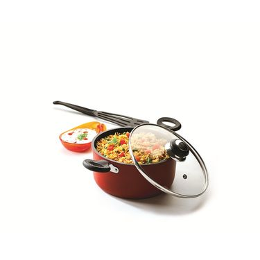 RECON SuperChef Non Stick Casserole with Glass Lid 200mm_RSCCR200