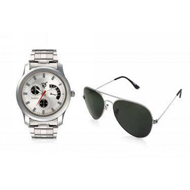 Combo of Rico Sordi Analog Wrist Watch + Sunglasses_RSD40_WSG