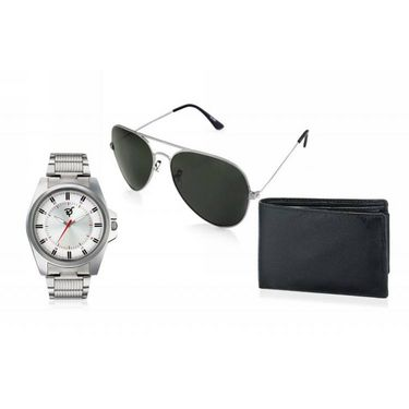 Combo of Rico Sordi Analog Wrist Watch + Sunglasses + Wallet_RSD50_WSGW