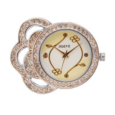 Adine Analog Round Dial Wrist Watch For Women_Rsw02 - White