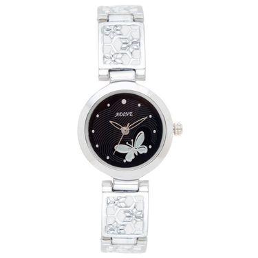 Adine Analog Round Dial Wrist Watch For Women_Rsw03 - Black