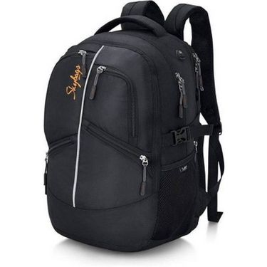 Skybags Black Laptop Backpack_Crew 02 Black