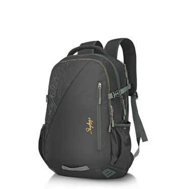 Skybags Black Laptop Backpack_Teckie 02 Black