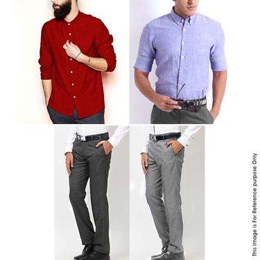 Gwalior Men's Smart Formal Collection - 2 Shirt Piece + 2 Pant Piece