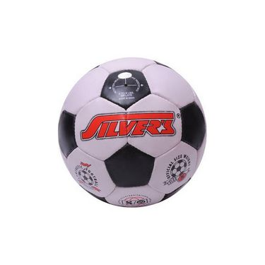 Silver's (Size-6) Black Silfbblack&White Football-White And Black