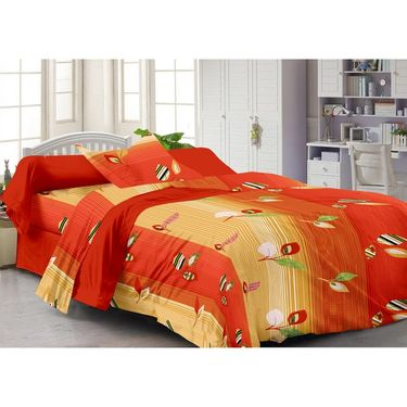 StoryathomeSet Of 2 Single Bedsheet With 2 Pillow Cover-SP1218-SP1207