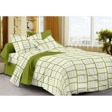 Set of 3 Cotton Single Bedsheet With 3 Pillow Cover-SP_1209_1210_1211