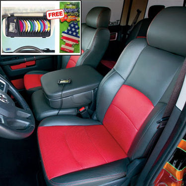 Samsun Car Seat Cover for Chevrolet Tavera - Red & Black
