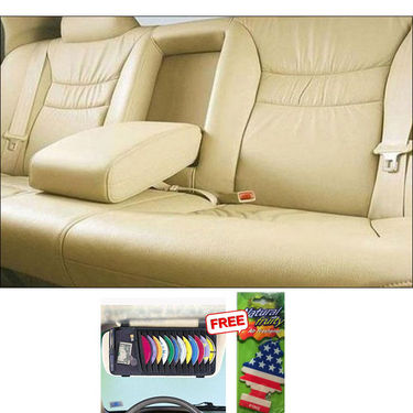 Samsun Car Seat Cover for Mahindra REVAi - Beige