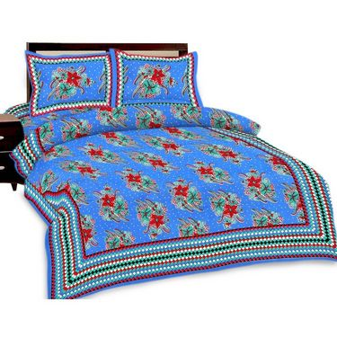 Set of 3 Jaipuri Print Double Bedsheets with 6 Pillow Covers-SRA3DB-2