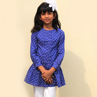 Shoppertree Polka Dot Top - Blue