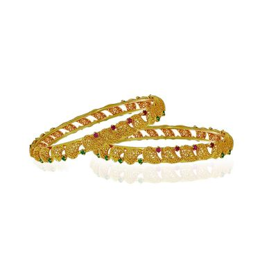 Spargz Leaf Designer Bangle - Maroon & Green _AIB030