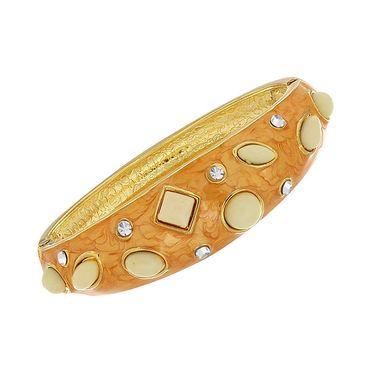 Spargz Desinger Gold Plating Kada - Golden_AISK038