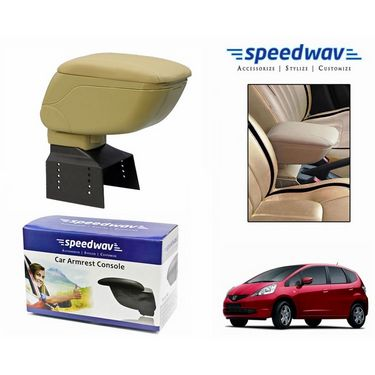 Speedwav Car Armrest Console Beige Color- Honda Jazz