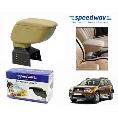 Speedwav Car Armrest Console Beige Color- Renault Duster