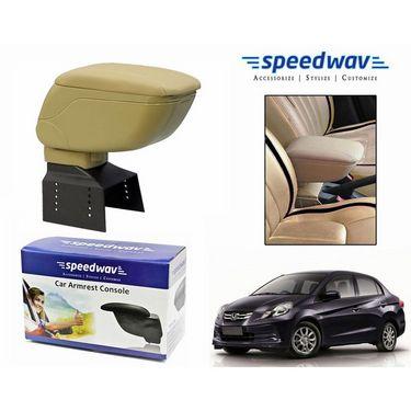 Speedwav Car Armrest Console Beige Color- Honda Amaze
