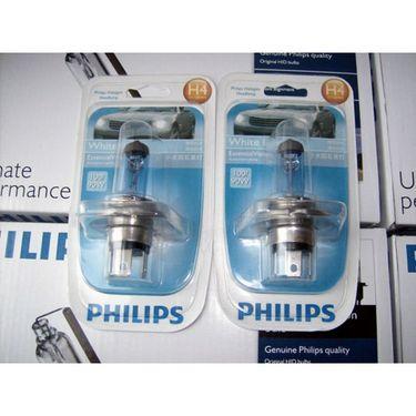 Philips Essential Vision Car Headlight Bulbs H4 100/90W -White