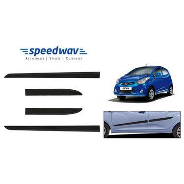 Speedwav Car Original Side Beading Matt BLACK - Hyundai Eon