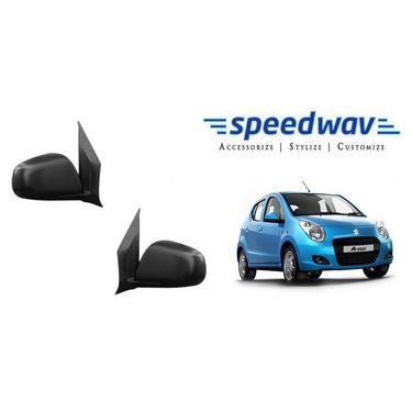 Speedwav Car Side Rear View Mirror Assembly SET OF 2 - Maruti A Star
