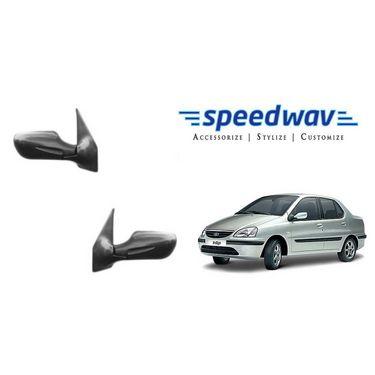 Speedwav Car Side Rear View Mirror Assembly SET OF 2 - Tata Indigo