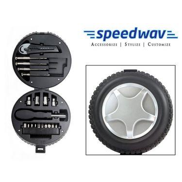 Speedwav Tyre Style 20 in 1 Emergency Car / Bike Tool Kit-SMALL