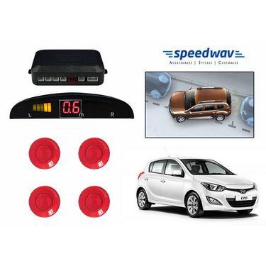 Speedwav Reverse Car Parking Sensor LED Display RED - Hyundai i20 Elite