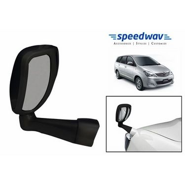 Speedwav Front Fender SUV Wide Angle Mirror BLACK - Toyota Innova Old