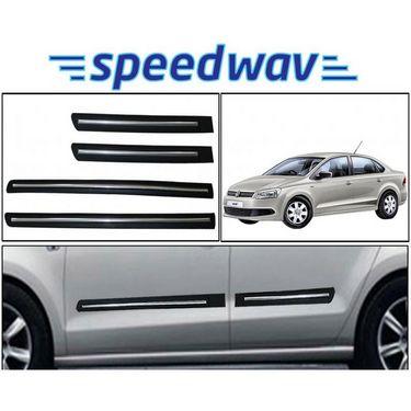 Speedwav Side Beading Chrome Plated BLACK - Volkswagan Vento