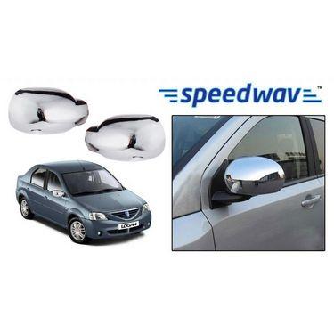 Speedwav Renault Logan Chrome Mirror Covers Set of 2