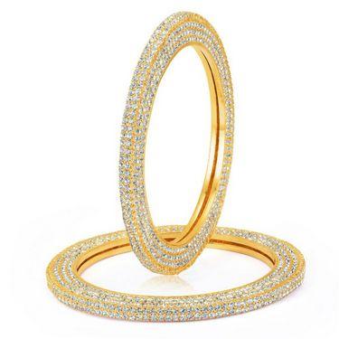 Sukkhi Excellent Gold Plated Kada - Golden - 12036KADI2200