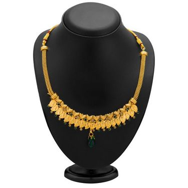 Sukkhi Fashionable Gold Plated Necklace Set - Golden - 2110NGLDPL1650