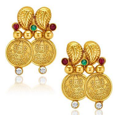 Sukkhi Ravishing & Charming Gold Plated Necklace Set - Golden - 2117NGLDPV2000