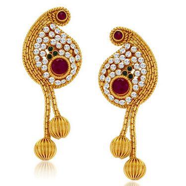 Sukkhi Beguilling Gold Plated Necklace Set - Golden - 2118NGLDPV2000