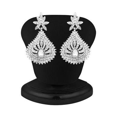 Sukkhi Marvellous Rhodium Plated AD Stone Necklace Set