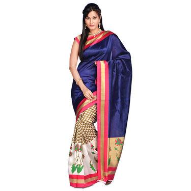 Sukriti Collection of 7 Printed Art Silk Sarees by Varanga (7A8)