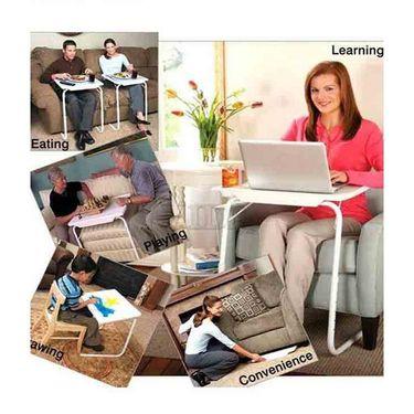 Shoper52 Designer Portable Adjustable Dinner Cum Laptop Tray Table-TABLE052