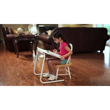 Shoper52 Designer Portable Adjustable Dinner Cum Laptop Tray Table-TABLE072