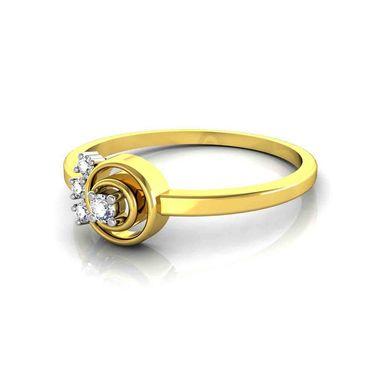 Avsar Real Gold & Swarovski Stone Varsha Ring_T025yb