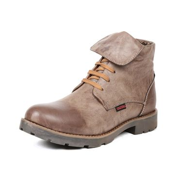 Ten Synthetic Leather Brown Boots -ts167