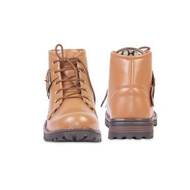 Faux Leather Tan Boots -T14