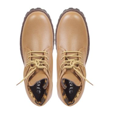 Faux Leather Tan Boots -T17
