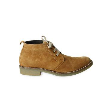 Ten Nubuck Leather Tan Casuals Shoes -ts170